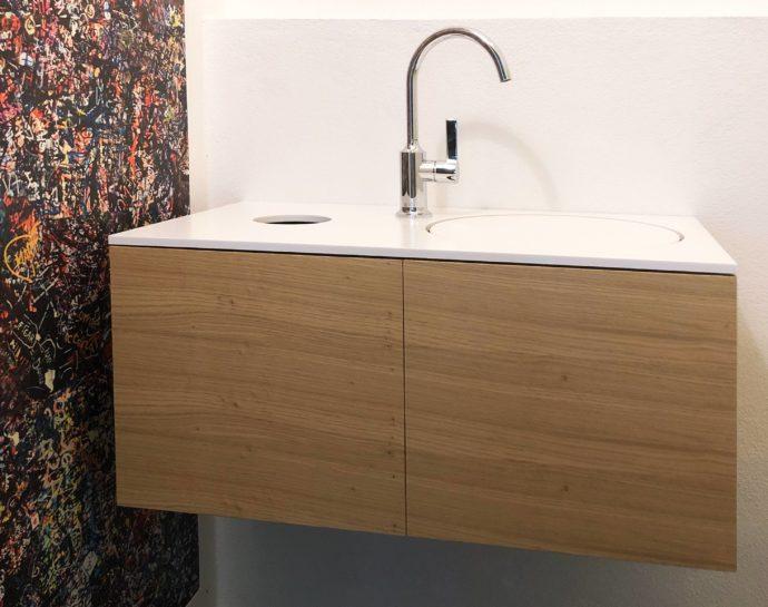 Gäste WC Waschtisch mit Schrank